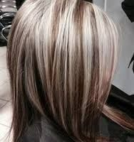 chocolate brown hair with chunky blonde highlights - Google Search