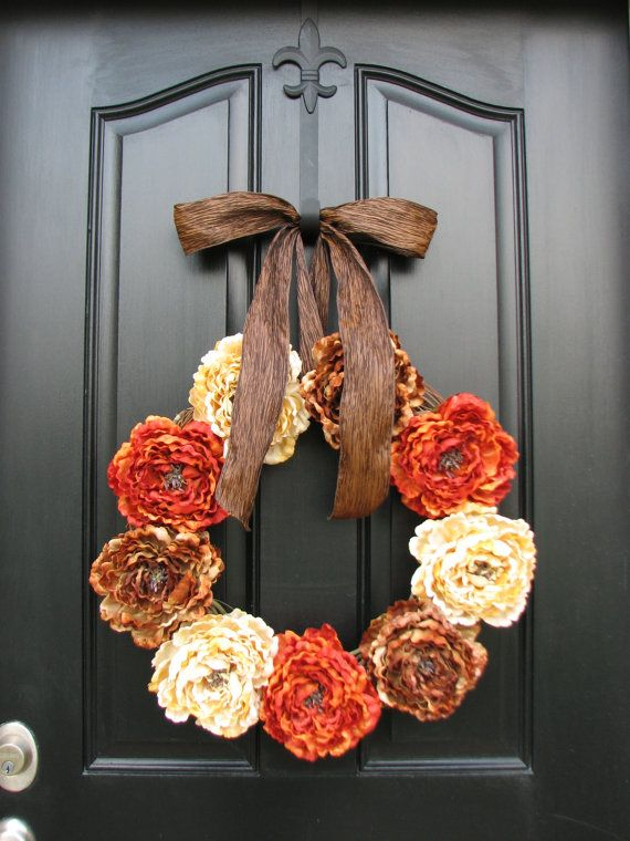 Fall wreaths autumn wreaths fall decor front door Fall autumn door wreaths