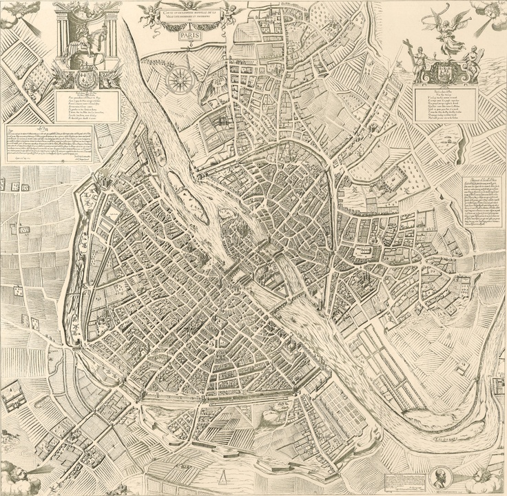 PARIS I Old Maps of Paris - Year 1609