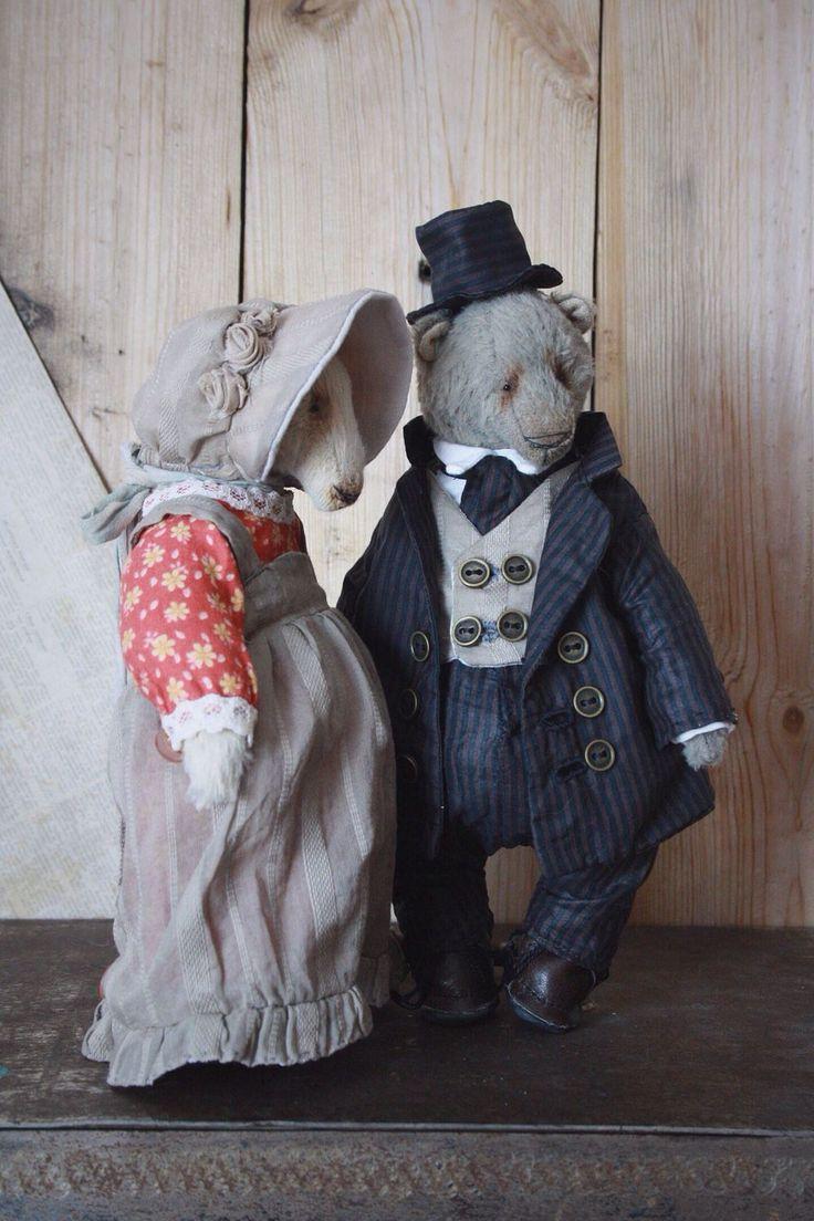 Купить Дворяне - серый, дворяне, господин и госпожа, мишка в платье, мишка в…
