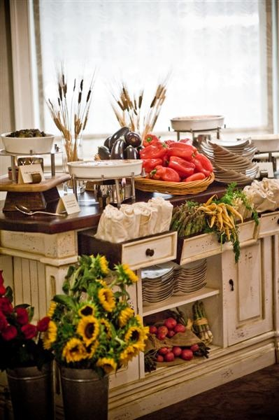 Rustic Cabinet Serves As A Buffet For Hor D Oeuvres