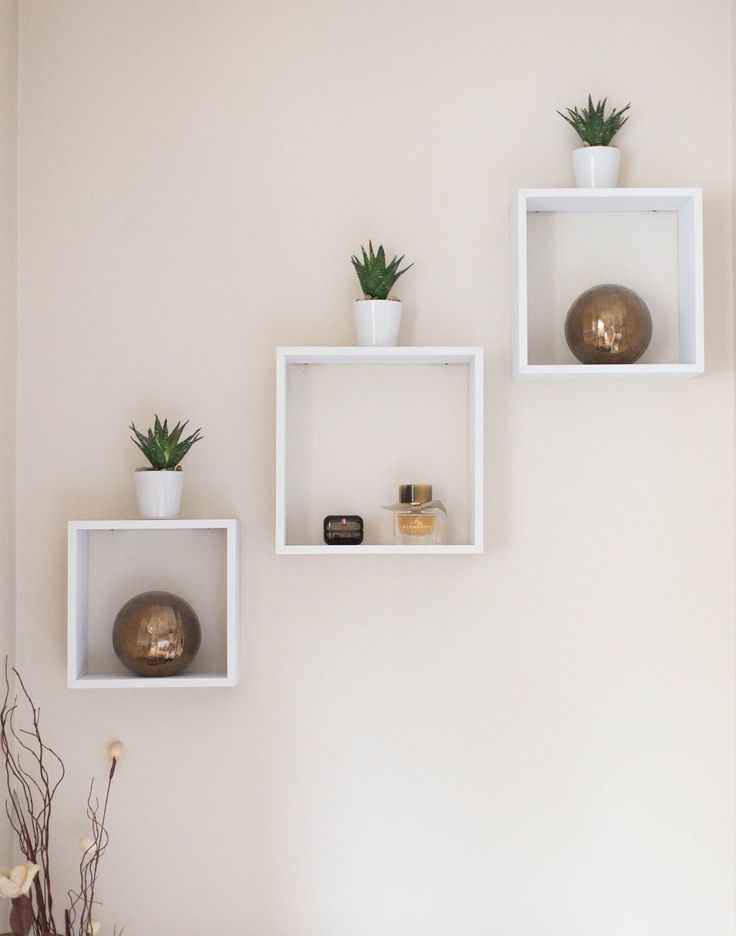 NEW IN THE MASTER BEDROOM. Cube wall shelving bedroom from Homebase. Floating wa…   – Wohnzimmerideen