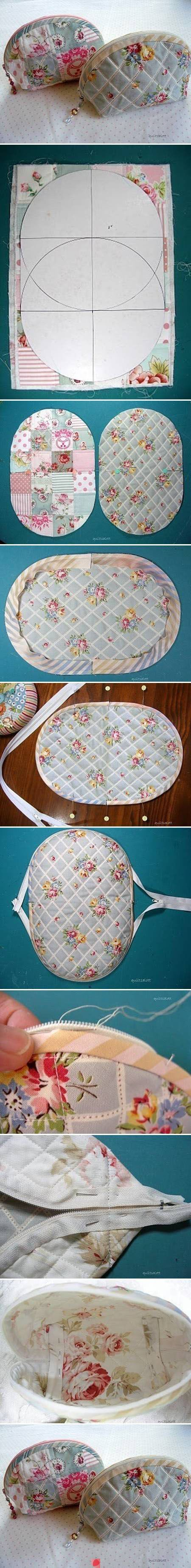 Rounded zipper pouch - photo directions only