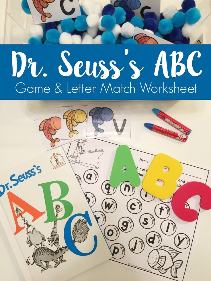 "Dr. Seuss's ABC -- Game and Letter Match - Wife Mommy Me  This month, CJ and I have been focusing on letter recognition, specifically lower case letters. I have 2 games that made learning ""little"" letters fun."