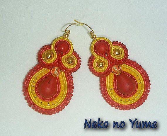 Soutache earrings  Summer