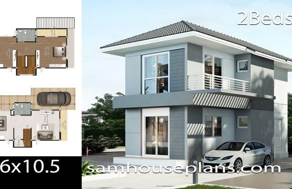 House Plans Idea 6 10 5 With 2 Bedrooms In 2020 House Plans Two Storey House Plans 2 Storey House Design
