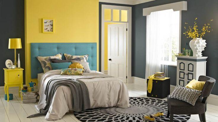Pomysł na sypialnię: kolorowe ściany. Zobacz 15 aranżacji - Galeria - Dobrzemieszkaj.pl
