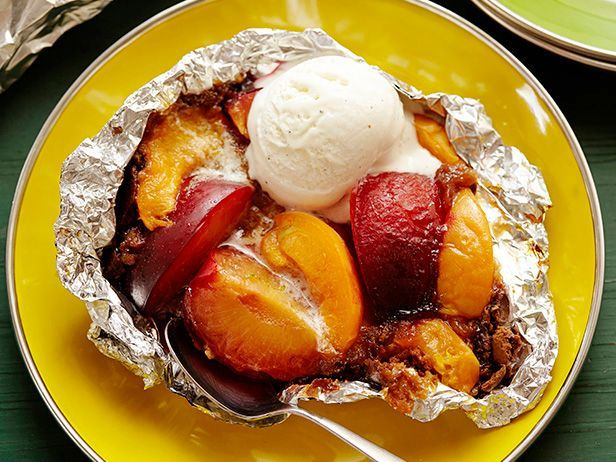 Make your dessert on the grill tonight. Simply fill a foil pouch with gingersnaps, butter, sugar and peaches and plums, then lay the pouch over hot coals. Don't forget a scoop of ice cream on top!