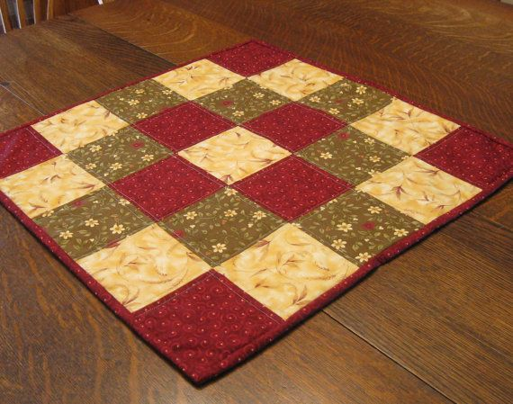 Quilted Table Topper beautiful assortment of by WarmandCozyQuilts, $35.00