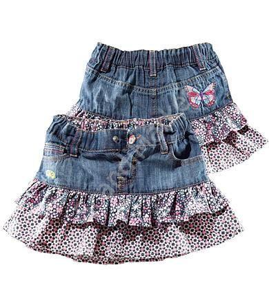Детская джинсовая юбка для девочки сшить самим