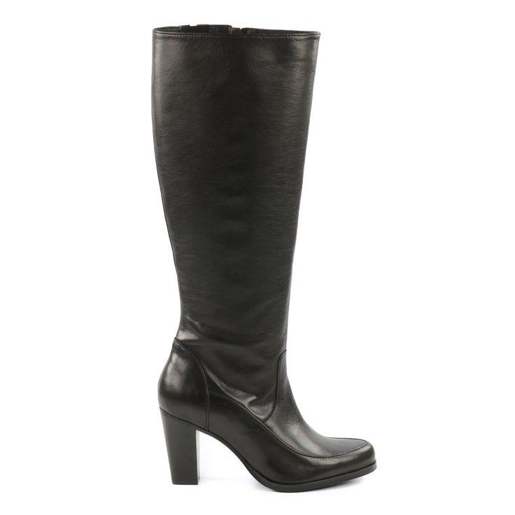 Classy black leather boots - Lange klassieke zwarte leren laarzen