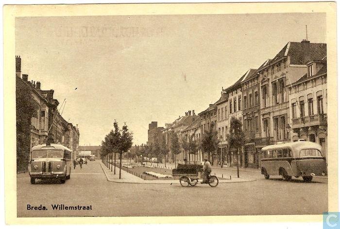 Breda - Willemstraat - 1956.