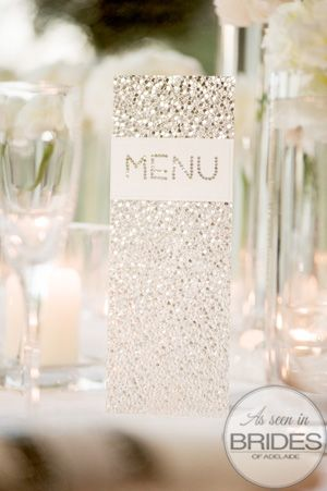 brides of adelaide magazine - sequin wedding - menu: invitations for all occasions