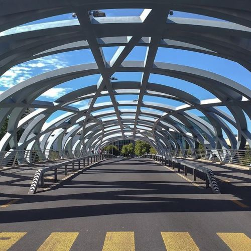 Hans Wilsdorf-Bridge in Geneva Switzerland. Design by Brodbeck-Roulet Architects built 2009-2012. . #ad I took this picture with the @wiko_ch WIM mobile phone - a #GameChanger indeed! #ShotOnWim #DualCamera _______________________________________________ #art_chitecture_ #arkiminimal #minimal_lookup #skyscraping_architecture #architecture_minimal #creative_architecture #lookingup_architecture #architecture #архитектура #arquitectura #archdaily #archilovers #passionpassport #architizer…