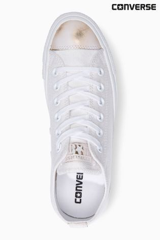 Buy Converse White Brush Off Toe Cap Chuck Taylor All Star from the Next UK online shop