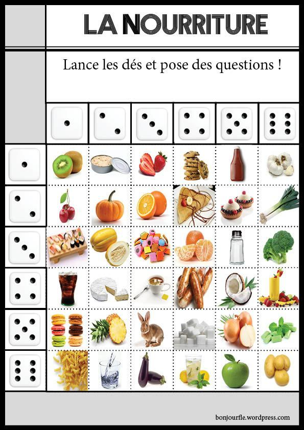 Jeu doublede nourriture2 french pinterest pictures for Anglais vocabulaire cuisine