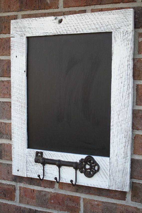Natural Reclaimed Barn Wood Chalkboard with Key by timelessjourney, $50.00..looks like an easy diy