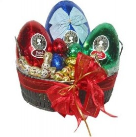 Best 25 easter hampers ideas on pinterest birthday hampers easter pleasures this easter hamper is always a favorite beautiful dark milk chocolate eggs of all shapes and sizes by pink lady gift wrapped in a negle Image collections