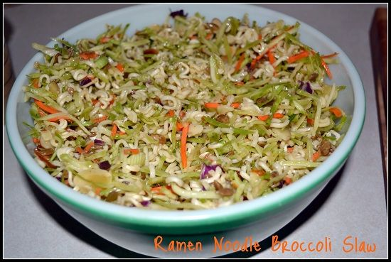 Ramen noodle broccoli slaw. So good!