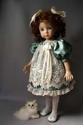 Silk-Antique-Lace-DRESS-13-Dianna-Effner-Little-Darling-Dolls-House-of-Bleus. Ends 9/30/14 with BIN of $129.95. Sold for reduced BIN of $119.95 on 9/28/14: