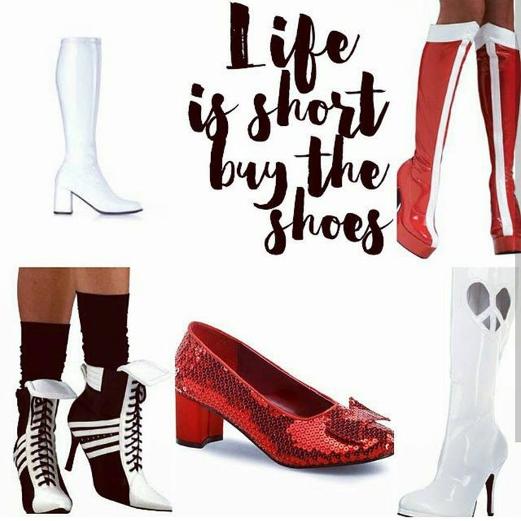 Life is Short - Buy the Shoes  We have many styles of shoes and boots for a variety of characters theater productions and occasions. We carry men's and kids too!         Contact us at 585-482-8780 for more information or check out select costumes and accessories on our website www.arlenescostumes.com  #shoes #boots #gogoboots #pirate #referee #harleyquinn #wonderwoman #Halloween