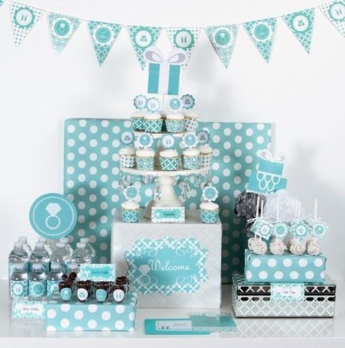 Something Blue Aqua Tiffany Bridal Shower Mod Party Kit Decorations Ebay