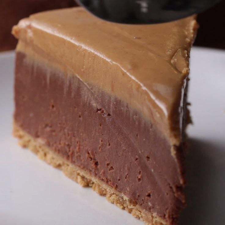 Cheesecake Mousse Recipe, Turtle Cheesecake Recipes, Chocolate Peanut Butter Cheesecake, Lemon Desserts, Sweet Desserts, Delicious Desserts, Crackers, Graham, Baking Recipes