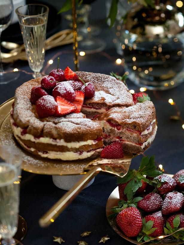 Strawberry Layer Cake Recipe - Viva