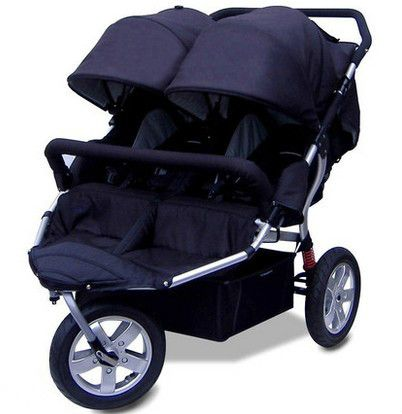 special offer babyboom offroad twins baby stroller shock pneumatic wheels double baby stroller 3 wheels baby car 4 colors gifts