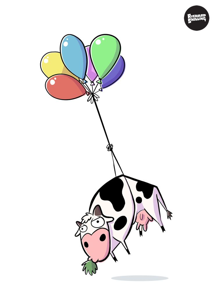 """""""I know she wanted a pony for her birthday; but fuck it, close enough.""""http://www.redbubble.com/people/rwshilling/works/15465882-balloon-cow"""