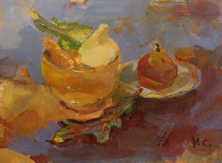 This little painting was a challenge- but hey, I love challenges!  The color of gourds is wonderful and I tried to capture the color values.    This painting is called simply- An Autumn Still Life.  I painted it from real life in acrylic on my favorite paper - Strathmore Mixed Media Paper, 6x8 inches.  I hope you enjoy it.