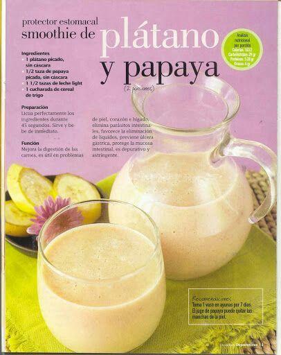 SMOTHIE de plátano y papaya