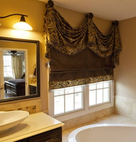 17 best ideas about tuscan curtains on pinterest tuscan - Swag valances for bathroom windows ...