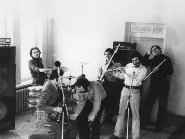 013 Репетиция группы Пикник, середина 80-х годов 20-го века