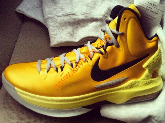 Kevin durant shoes 2013 KD V Yellow Black