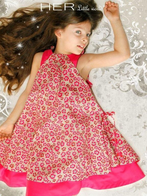 Lined dress with drawn ribbon gathers on one side