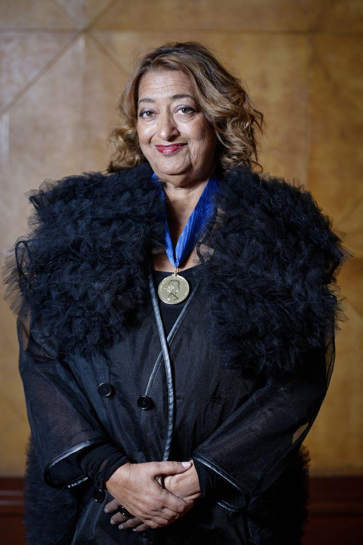 Zaha Hadid Receives the RIBA Royal Gold Medal at a Ceremony in London