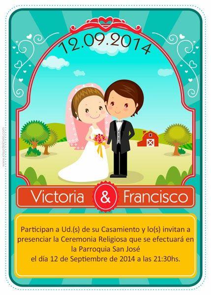 Nuevos modelos de invitaciones para bodas (1) ~ El Sur del Cielo