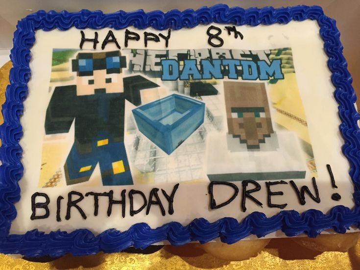 Dantdm Picture Cake Dantdm Party Pinterest Pictures