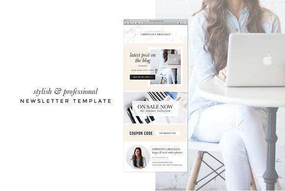 **New** Email Newsletter Template by isntshelovelydesigns on @creativemarket