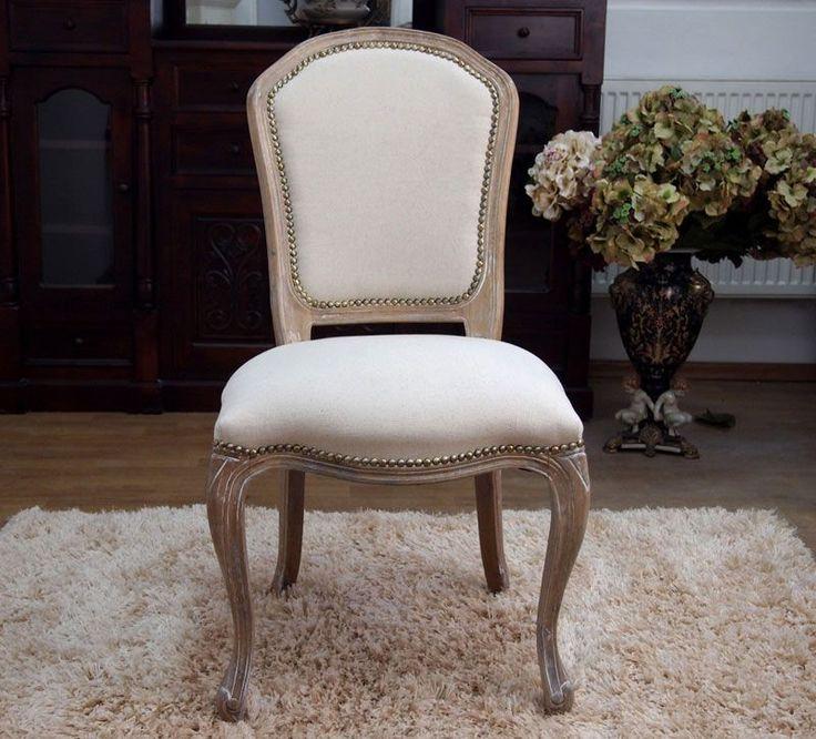 Imponujące krzesło tapicerowane z Kolekcji Rustykalnej, Shabby Chic / Upholstered Chair Rustic Shabby Chic Collection