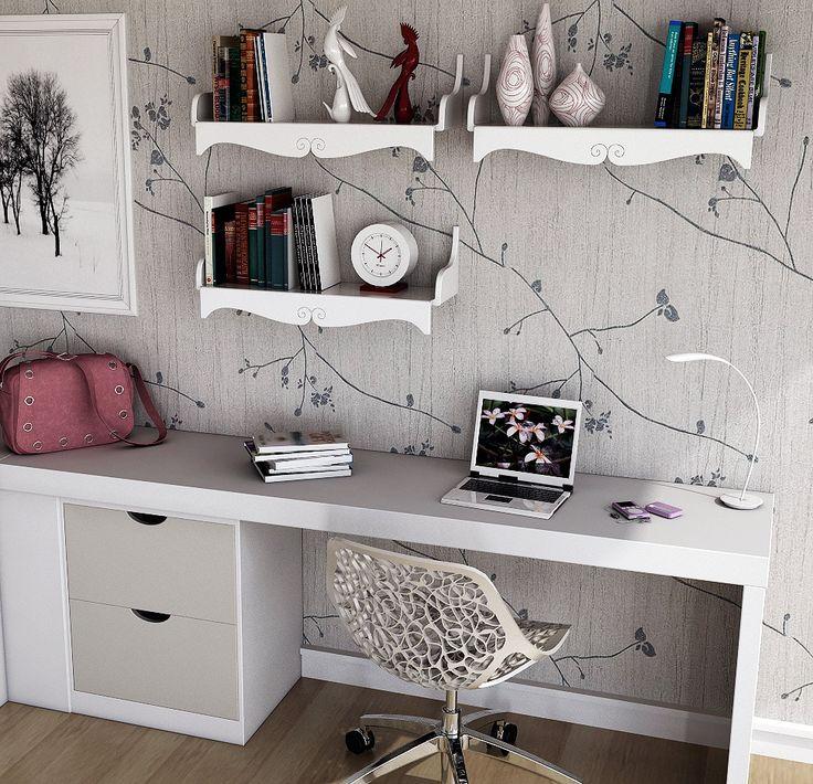 HOME OFFICE, imagem feita com o 3D Max e Mental Ray.
