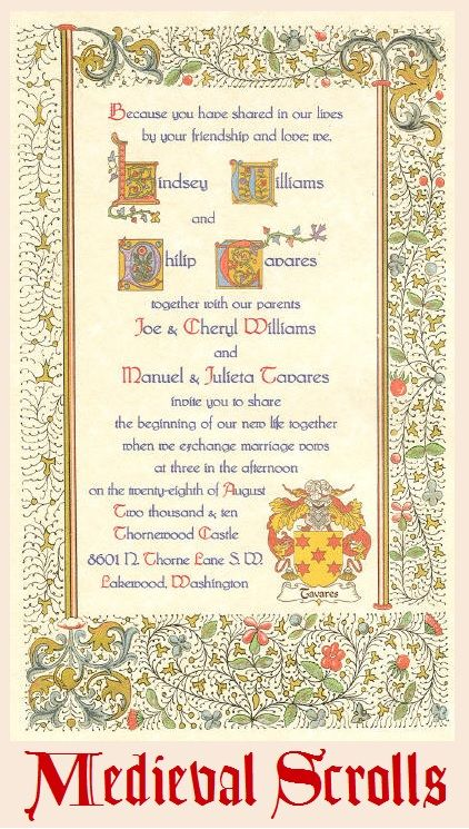 37 best images about Medieval Wedding Invites on Pinterest