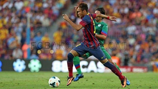 FC Barcelona 7-0 Levante | FC Barcelona, Neymar perfilándose. [18.08.13]