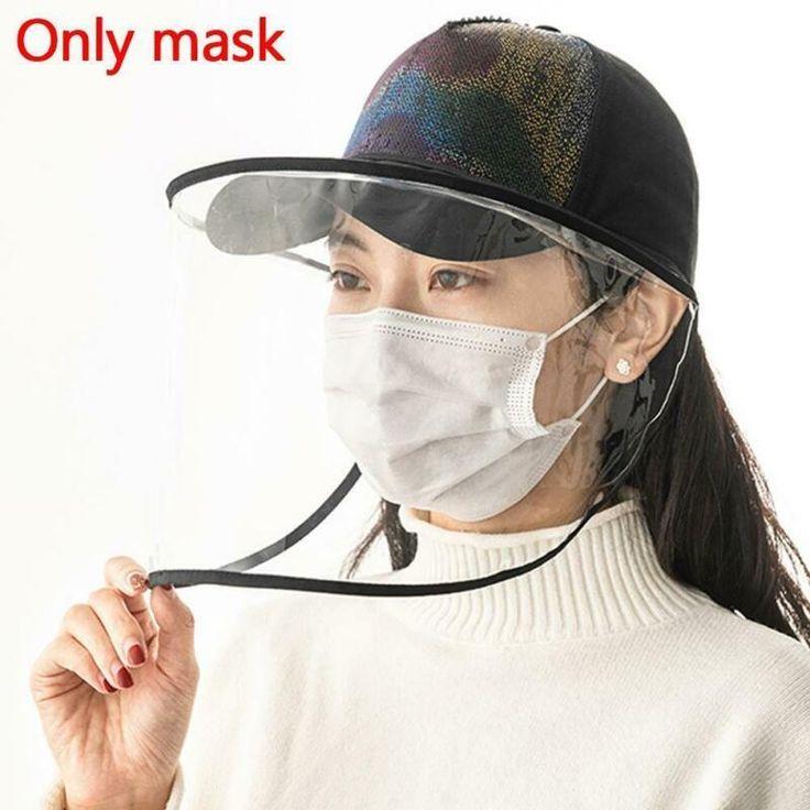 1pcs clear full face shield hatmounted transparent mask