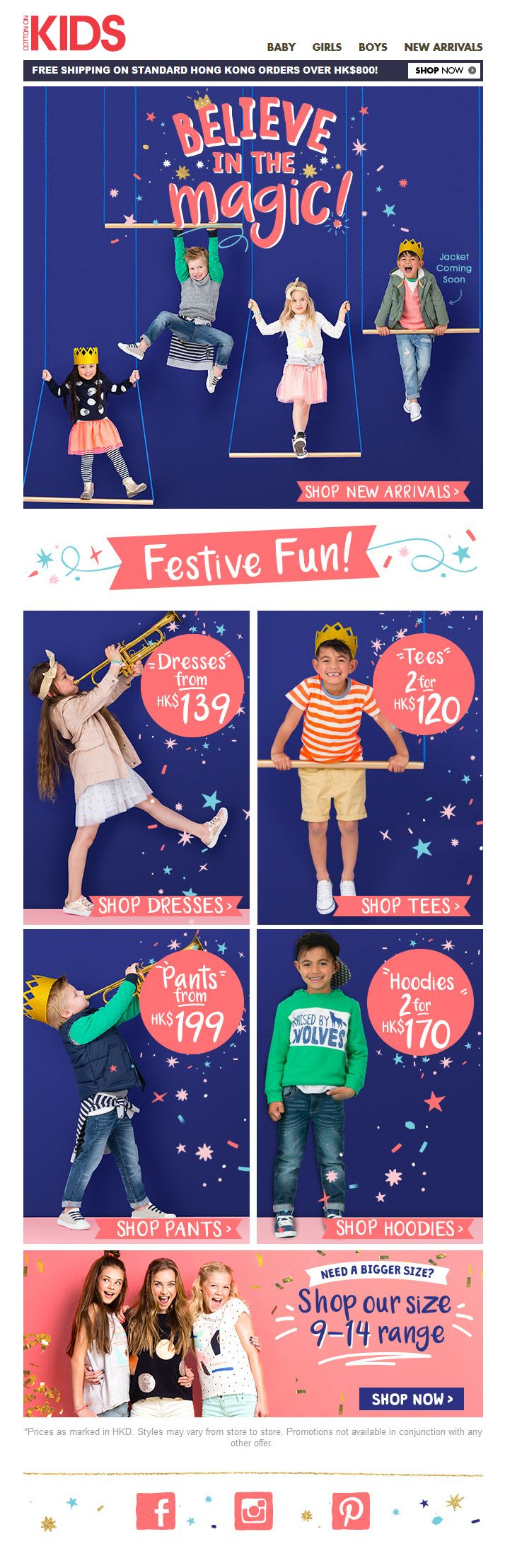 #newsletter #email #web #weblayout #kids #cottonon #festive #happy