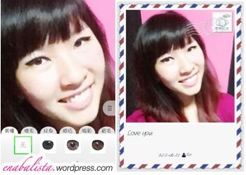 POCO美人相机 POCO Beauty Camera App Review  Post Card Fake Lashes