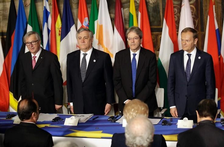 03-25-2017   European Union leaders marked the 60th anniversary of their founding treaty on Saturday as a turning point in their history in the knowledge that Britain will officially trigger divorce proceedings from the bloc next week.