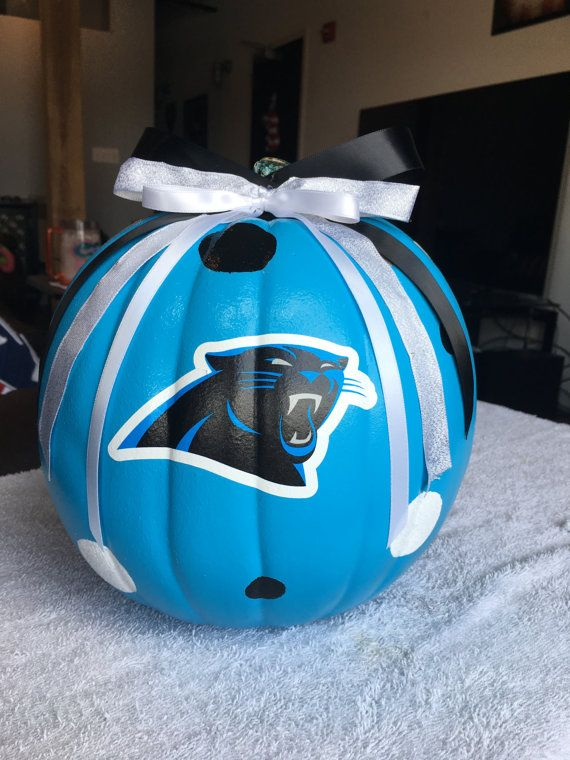 Hey, I found this really awesome Etsy listing at https://www.etsy.com/listing/482562323/carolina-panthers-pumpkin