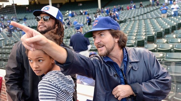 Eddie Vedder, Cubs fanEddie Vedder was in Pittsburgh for the wild-card game and at Wrigley Field on Oct. 12, 2015, as the Cubs beat the St. Louis Cardinals, 8-6, in Game 3 of the National League Division Series.